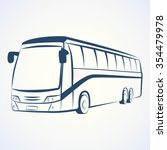 bus outline vector | Shutterstock .eps vector #354479978