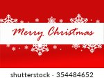 merry christmas red card with... | Shutterstock . vector #354484652