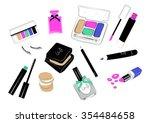makeup products. cosmetics....   Shutterstock .eps vector #354484658