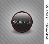 science black shiny emblem | Shutterstock .eps vector #354494156