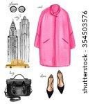 watercolor fashion illustration.... | Shutterstock . vector #354503576