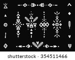 hand drawn tribal collection... | Shutterstock . vector #354511466