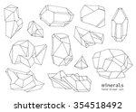 set of hand drawn line art... | Shutterstock .eps vector #354518492
