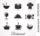 restaurant icon collection....