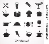 restaurant icon collection.... | Shutterstock .eps vector #354519596