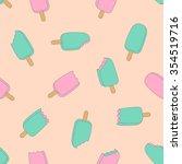 sweet ice cream seemles... | Shutterstock .eps vector #354519716