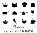 restaurant icon collection.... | Shutterstock .eps vector #354520052