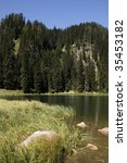 lake in julian alps  slovenia. | Shutterstock . vector #35453182