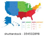 map of us regions. maps usa | Shutterstock .eps vector #354532898