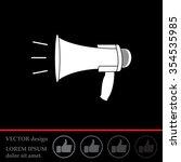 megaphone  loudspeaker icon.... | Shutterstock .eps vector #354535985
