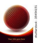 colorful globe design vector.   Shutterstock .eps vector #35454151