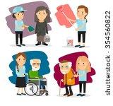 young woman volunteer | Shutterstock . vector #354560822