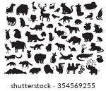 Stock vector eurasia animals silhouettes isolated on white background vector illustration eurasian animals 354569255