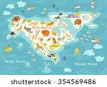 Animals World Map  North...