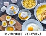 different ways of cooking eggs | Shutterstock . vector #354590525