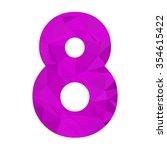 purple alphabet number vector... | Shutterstock .eps vector #354615422