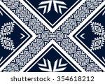geometric ethnic pattern... | Shutterstock .eps vector #354618212