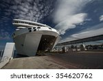 ferry ship boarding at harbor...