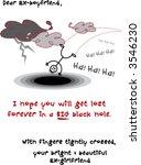 """i wish my ex boyfriend will fall into a hole"" card(vector) - sarcastic cartoon illustration"