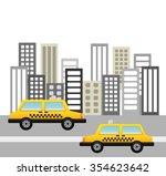 taxi service design  vector... | Shutterstock .eps vector #354623642