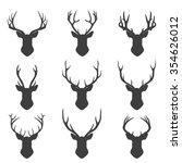 set of deer set of deer... | Shutterstock .eps vector #354626012