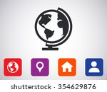 earth  icon  | Shutterstock .eps vector #354629876