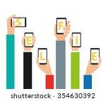 selfie concept design  vector... | Shutterstock .eps vector #354630392