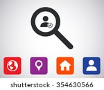 find contact icon | Shutterstock .eps vector #354630566