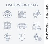 set of linear london icons.... | Shutterstock .eps vector #354630836