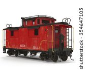 Caboose On White Background