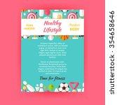 healthy lifestyle sport... | Shutterstock .eps vector #354658646
