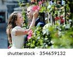 happy romantic couple bride and ... | Shutterstock . vector #354659132