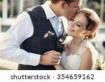 beautiful bride and groom... | Shutterstock . vector #354659162