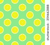 lemon slices seamless pattern | Shutterstock .eps vector #354662888