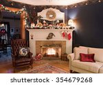 Victorian Christmas Fireplace...