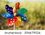 Close Up Of A Pinwheel On The...