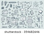 science icons. hand drawn... | Shutterstock .eps vector #354682646