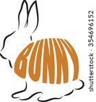 bunny lettering illustration | Shutterstock .eps vector #354696152