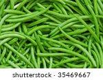 Green Bean String Close Up