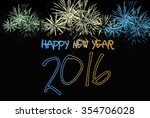 happy new year 2016 from...   Shutterstock . vector #354706028