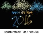 happy new year 2016 from... | Shutterstock . vector #354706058