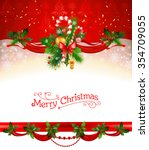holiday christmas background.... | Shutterstock .eps vector #354709055