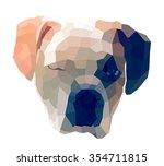 dog geometric   Shutterstock . vector #354711815