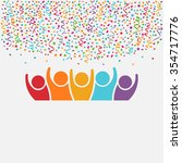 happy people party. celebration ... | Shutterstock .eps vector #354717776