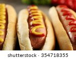 Tasty Hot Dogs With Vegetables...