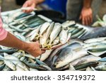 fresh sea fish on display at a... | Shutterstock . vector #354719372
