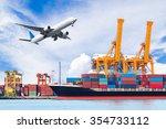 container cargo freight ship...   Shutterstock . vector #354733112