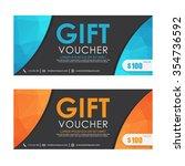 voucher  gift certificate ... | Shutterstock .eps vector #354736592