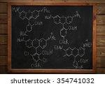 school blackboard with formulas ... | Shutterstock . vector #354741032