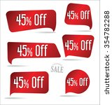 45 percent off red sticker... | Shutterstock .eps vector #354782288